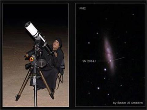 بالصور فلكي كويتي يلتقط صوراً نادرة لظاهرة فلكية تعد سبقاً علمياً