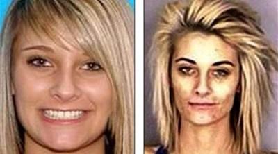 صور صادمة الشرطة الأمريكية تنشر صوراً لملكة جمال قبل وبعد إدمانها المخدرات