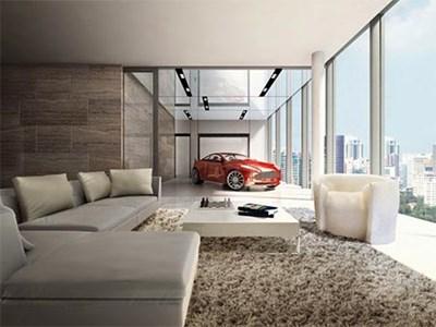 بالفيديو أغنياء سنغافورة يركنون سياراتهم الخارقة في غرف الجلوس
