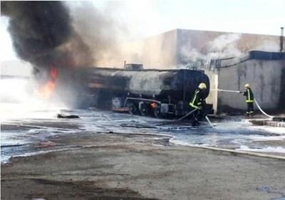 بالصور وفاة صاحب محطة وقود سعودي بعد مشاهدته اندلاع حريق في محطته