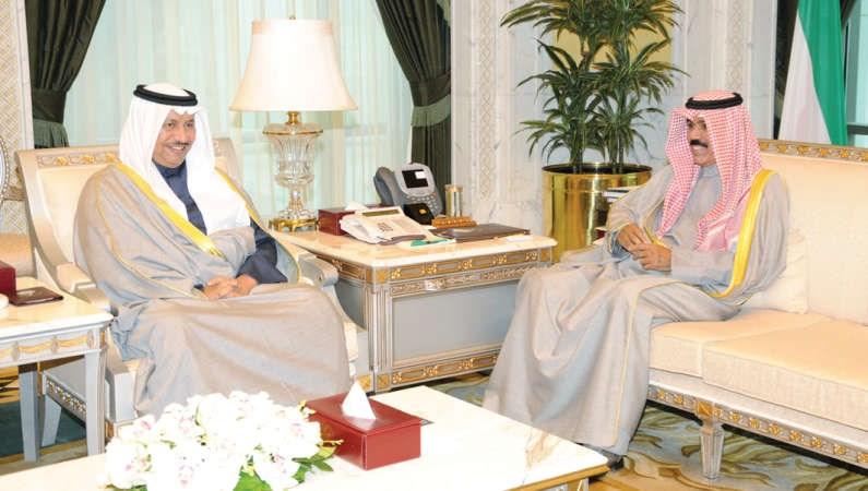 نائب الأمير استقبل الغانم والمبارك و 5 وزراء