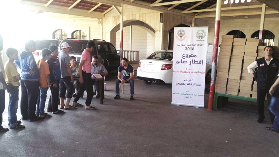 إفطار للنازحين السوريين في لبنان بهبة من الكويت