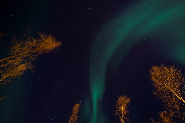 اللون الأخضر يغير سماء النرويج