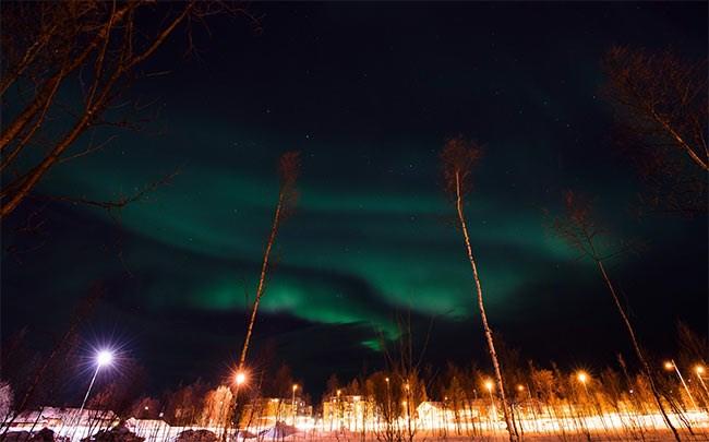 خطوط الشفق القطبى تضيئ سماء النرويج