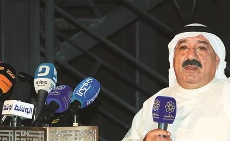الشيخ ناصر صباح الأحمد متحدثا عن أهمية مشروع تطوير الجزر