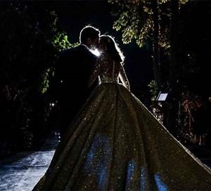 """بالفيديو والصور ..فستان بالألماس وقاعة رومانية.. ليلة أسطورية لحفل زفاف نجمة """"ستار أكاديمي"""""""