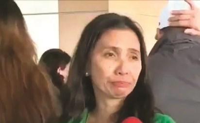 إحدى العاملات الفلبينيات خلال تصريحاتها لتلفزيون الشعب
