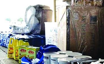 «الجمارك» تضبط مواد تموينية قبل تهريبها إلى دولة عربية