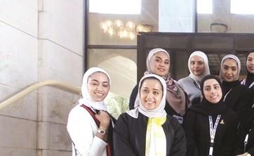 طالبات كلية القانون يزرن قصر العدل