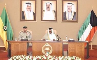 مشعل الأحمد لضباط الحرس الجدد: الكويت أمانة في أعناقنا