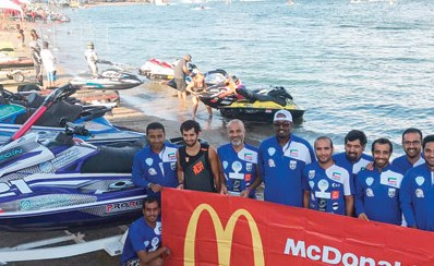 13 ميدالية لأبطال الكويت للدراجات المائية برعاية ماكدونالدز