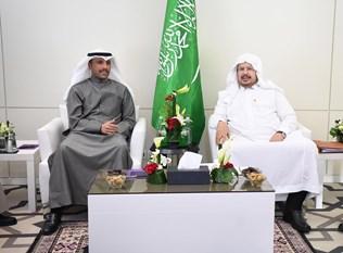 الغانم يجتمع في الرباط الى رئيس مجلس الشورى السعودي