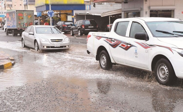 الامطار الرعدية أربكت المرور(محمد هاشم)