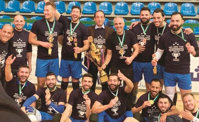 فريق سبيدبول شكا بطل لبنان في الكرة الطائرة في المواسم الثلاثة الاخيرة