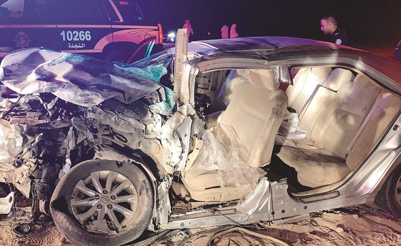 One citizen killed and another injured in a collision on Abdali road