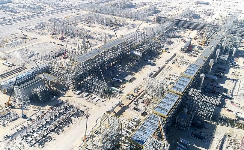 Sinopec completes construction of the main unit at the Al-Zour refinery