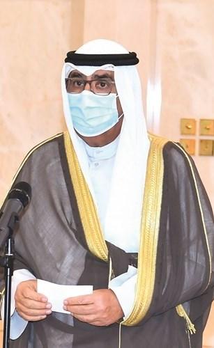 سمو ولي العهد الشيخ مشعل الأحمد يؤدي القسم