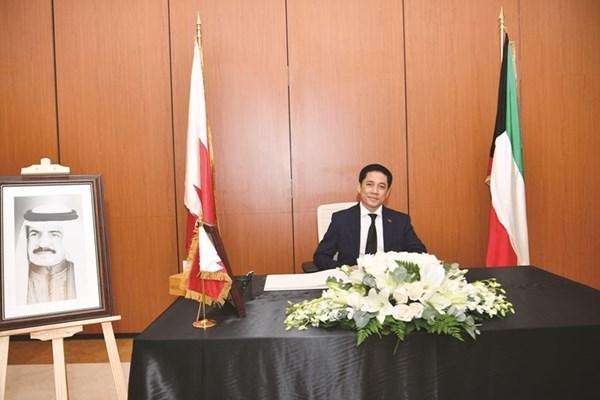 سفير كمبوديا هون هان معزيا