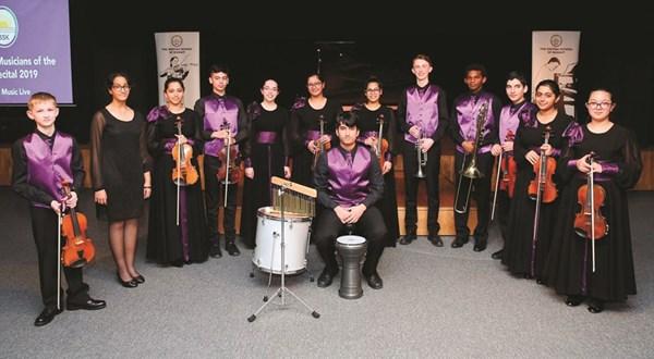 فرقة أوركسترا المدرسة البريطانية قدمت عزفا لموسيقى أغان وطنية كويتية
