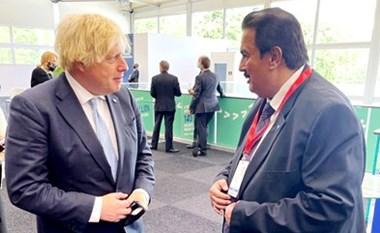 وزير التربية التقى رئيس وزراء بريطانيا