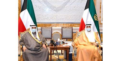 الأمير وولي العهد استقبلا ناصر المحمد